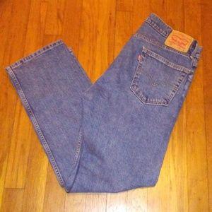 Levis 505 Blue Jeans Zip Fly - 34/29